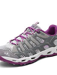 Недорогие -Жен. Обувь Сетка Лето Удобная обувь Спортивная обувь Для пешеходного туризма На плоской подошве Серый / Лиловый / Красный