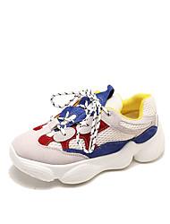 Недорогие -Жен. Обувь Сетка / Полиуретан Лето Удобная обувь Кеды На плоской подошве Круглый носок Лиловый / Синий