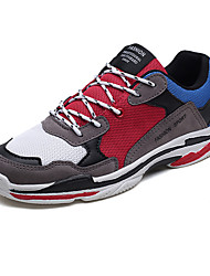 cheap -Men's Synthetics Spring Comfort Athletic Shoes Running Shoes Color Block Black / Light Red / Green