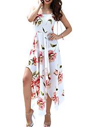 Недорогие -Жен. С летящей юбкой Платье Квадратный вырез Макси