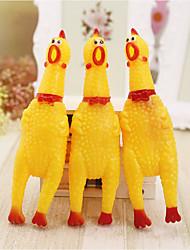 Недорогие -Интерактивный Игрушки с писком Курица и цыпленок обожаемый Ластик Назначение Собаки Кролики Коты