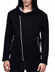 cheap -Men's Trench Coat - Contemporary Hooded / Long Sleeve