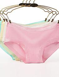 abordables -Mujer Short y Slip de Chico Un Color Media cintura