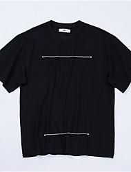 povoljno -Majica s rukavima Muškarci - Osnovni Dnevno Pamuk Geometrijski oblici Print