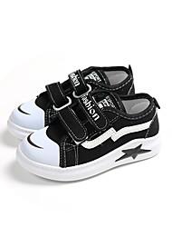 preiswerte -Mädchen Schuhe Leinwand Frühling Sommer Komfort Sneakers Walking Schnalle für Kinder Schwarz / Rosa
