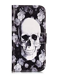 ieftine -Maska Pentru Samsung Galaxy S9 Plus / S9 Portofel / Titluar Card / Cu Stand Carcasă Telefon Cranii / Floare Greu PU piele pentru S9 / S9 Plus / S8