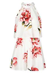 abordables -Mujer Activo Conjunto - Floral, Estampado Pantalón