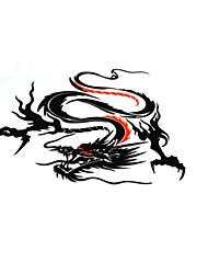 baratos -Preto / Prata / Amarelo Adesivos Decorativos para Carro Estilo Chinês Porta Adesivos Animal Adesivos