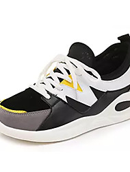 cheap -Men's Light Soles Canvas Summer Athletic Shoes Walking Shoes Color Block Black / Gray