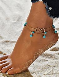 baratos -Fio Único tornozeleira - Infinidade Na moda, Romântico, Doce Dourado Para Presente / Para Noite / Mulheres