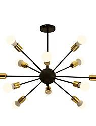 abordables -QIHengZhaoMing Lustre Lumière d'ambiance 110-120V / 220-240V, Blanc Crème, Ampoule incluse