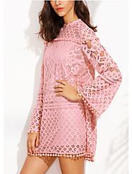 cheap -Women's Going out Cotton Shift Dress / Spring