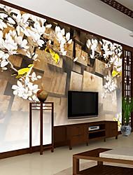 Недорогие -красивое искусство большой цветок карта индивидуальные настенные покрытия 3d настенные обои, подходящие для столовой спальни