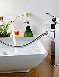 abordables -Robinet lavabo / Robinet - Séparé / Design nouveau Chrome Sur Pied Mitigeur un trou
