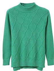 cheap -Women's Long Sleeve Pullover - Solid Colored Turtleneck