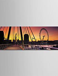 Недорогие -С картинкой Роликовые холсты - Архитектура / Фото Modern