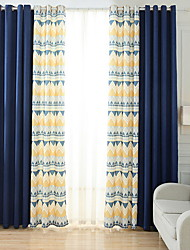 cheap -Blackout Curtains Drapes Bedroom Contemporary Cotton / Polyester Embroidery