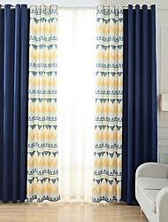 preiswerte -Verdunklungsvorhänge Vorhänge Schlafzimmer Zeitgenössisch Baumwolle / Polyester Stickerei