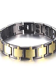 cheap -Men's Stylish Hologram Bracelet / Bracelet / Nugget Link Bracelet - Creative Trendy, Casual / Sporty, Fashion Bracelet Black / Silver For Birthday / Gift