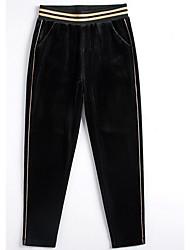 billige -kvinders slanke chinosbukser - solidfarvet