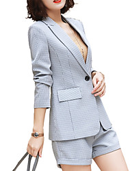 cheap -women's suits-houndstooth notch lapel