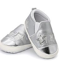 abordables -Garçon / Fille Chaussures Microfibre Printemps & Automne Premières Chaussures Basket Scotch Magique pour Bébé Noir / Argent / Rose