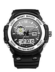 Недорогие -SANDA Муж. Спортивные часы электронные часы Японский Цифровой Черный 30 m Защита от влаги Календарь Хронометр Аналого-цифровые Роскошь Мода - Красный Синий Золотистый / Фосфоресцирующий