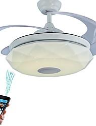 baratos -Ecolight™ Geométrica / Novidades Ventilador de teto Luz Ambiente - Ajustável, Controle Wi-Fi, Controle de Bluetooth, 110-120V / 220-240V, RGB, Fonte de luz LED incluída