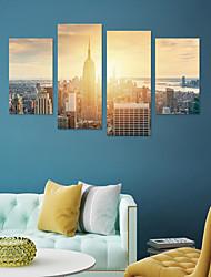 Недорогие -Декоративные наклейки на стены - Простые наклейки / 3D наклейки Пейзаж Гостиная / Кабинет / Офис