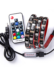 cheap -1m RGB Strip Lights / Remote Controls 30 LEDs 17-Key Remote Controller RGB USB / Decorative / Linkable USB Powered 1pc