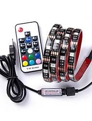 baratos -1m Faixas de Luzes RGB / Controles remotos 30 LEDs Controlador remoto de 17 teclas RGB USB / Decorativa / Conetável Carregamento USB 1pç