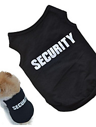 Недорогие -Собаки Жилет Одежда для собак Цитаты и выражения Черный / Розовый Хлопок Костюм Для домашних животных Универсальные Косплей