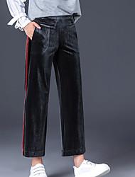 billige -kvinders slanke chinosbukser - stribet