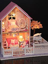 baratos -Casa de Boneca Adorável Requintado Romance Moderna 1 pcs Peças Crianças Adulto Para Meninas Brinquedos Dom