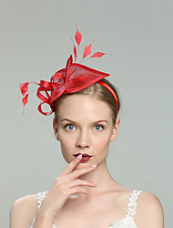 cheap -Flax Fascinators with Feather 1pc Wedding / Special Occasion Headpiece