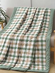 Недорогие -удобный - 1 одеяло Лето Хлопок Клетки