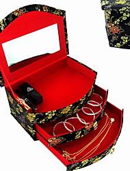 Недорогие -Место хранения организация Косметологический макияж Хлопок Прямоугольная форма Многослойный / Открытая крышка