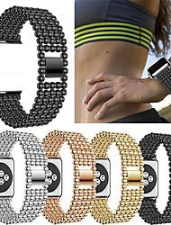 economico -Cinturino per orologio  per Apple Watch Series 4/3/2/1 Apple Cinturino sportivo Metallo / Acciaio inossidabile Custodia con cinturino a strappo