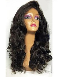 cheap -Virgin Human Hair Lace Front Wig Brazilian Hair Loose Wave Wig Layered Haircut 150% Natural Hairline / For Black Women Black Women's Long Human Hair Lace Wig
