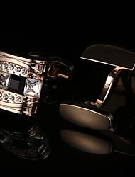 Недорогие -Геометрической формы Золотой Запонки Хрусталь / Медь Классический / Элегантный стиль Муж. Бижутерия Назначение Для вечеринок / Подарок