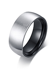cheap -Men's Stylish Band Ring - Stainless Steel Artistic, Trendy, Hip-Hop 8 / 9 / 10 Silver For Gift / Daily