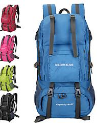 billige -50 L Rygsække - Regn-sikker, Åndbarhed Udendørs Vandring, Camping, Rejse Nylon Grøn, Blå, Lys pink