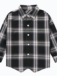 cheap -Kids Boys' Active Plaid Long Sleeve Cotton Shirt