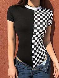 preiswerte -Damen Schachbrett Bodysuit