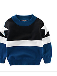 cheap -Kids Boys' Solid Colored / Color Block Long Sleeve Sweater & Cardigan