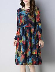cheap -women's loose a line dress knee-length