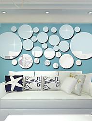 abordables -Autocollants muraux décoratifs - Miroirs Muraux Autocollants Forme Salle de séjour / Chambre à coucher / Salle de bain
