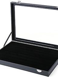Недорогие -Место хранения организация Ювелирная коллекция Ткань Прямоугольная форма Портативные / Открытая крышка