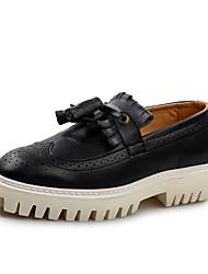abordables -Homme Chaussures de confort Faux Cuir Printemps / Automne British Mocassins et Chaussons+D6148 Augmenter la hauteur Noir / Marron / Gland