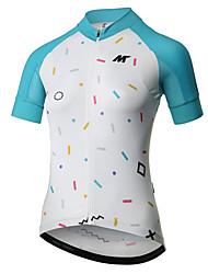 baratos -Mysenlan Manga Curta Camisa para Ciclismo - Fúcsia / Azul Moto